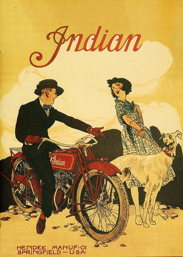 Indian motorcycle ad 1930s